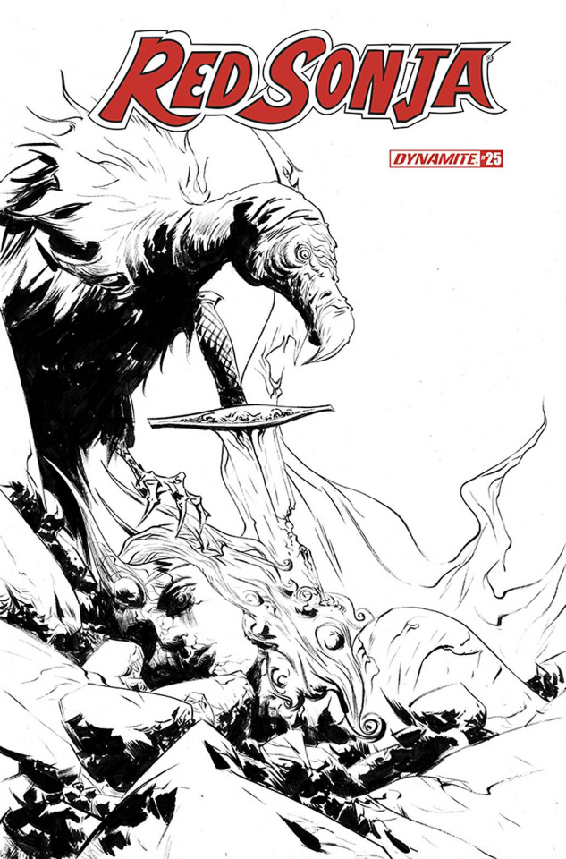 Red Sonja #25 (30 Copy Lee B&W Cover)
