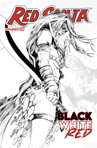 Red Sonja: Black, White, Red #3 (15 Copy Lau B&W Line Art Cover)