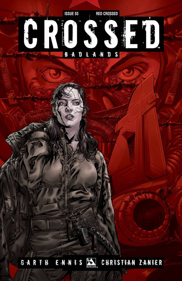 Crossed: Badlands #55 (Red Crossed Cover)