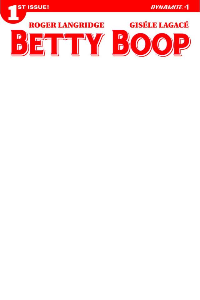 Betty Boop #1 (Blank Authentix Cover)