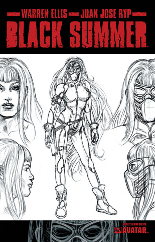 Black Summer #2 (Design Sketch Cover)