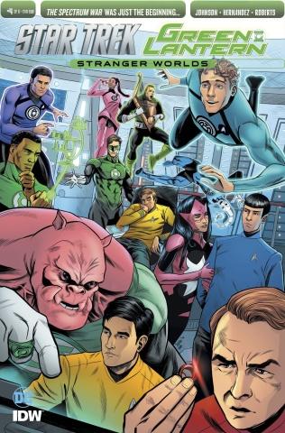 Star Trek / Green Lantern #4 (Subscription Cover)