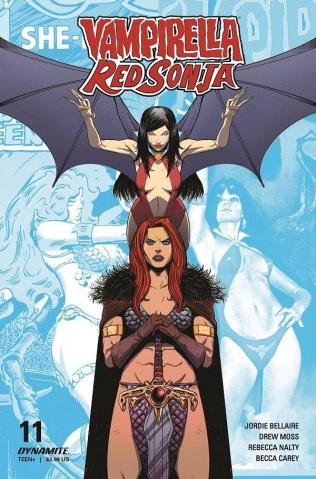Vampirella / Red Sonja #11 (Moss Cover)