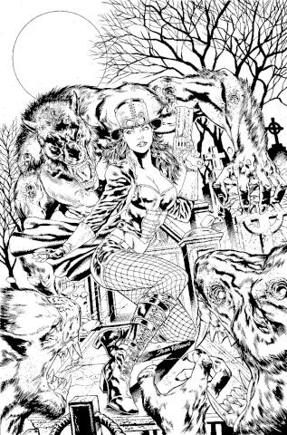 Van Helsing vs. The Werewolf #4 (Vitorino Cover)