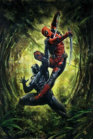 Black Panther vs. Deadpool #1 (Granov Cover)