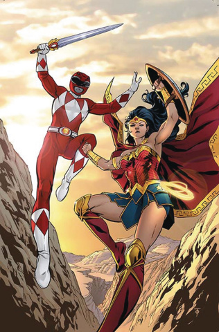 Justice League / Power Rangers #1 (Wonder Woman / Red Ranger Cover)