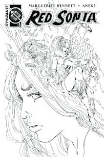 Red Sonja #3 (10 Copy Sauvage B&W Cover)