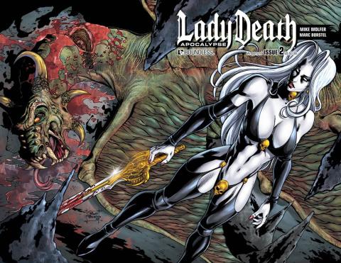 Lady Death: Apocalypse #2 (Wrap Cover)