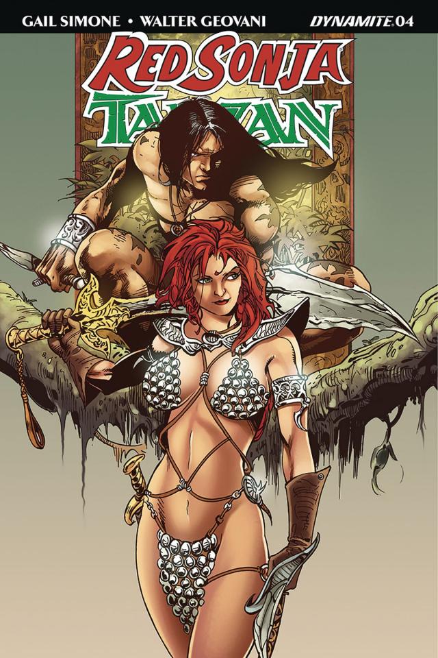 Red Sonja / Tarzan #4 (Castro Subscription Cover)