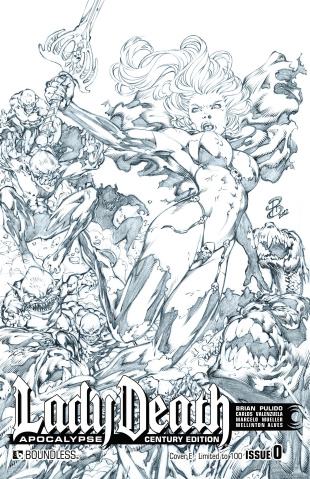 Lady Death: Apocalypse #0 (Century E Cover)