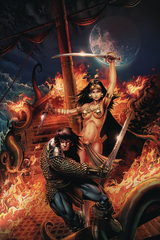 The Cimmerian: Queen of the Black Coast #1 (Jason Metcalf Cover)