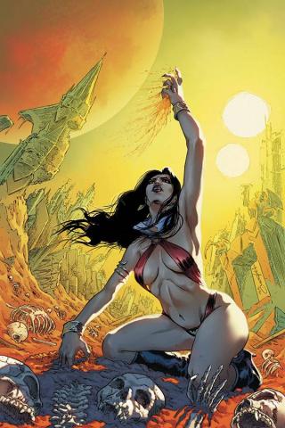 Vampirella #17 (Timpano Virgin Cover)