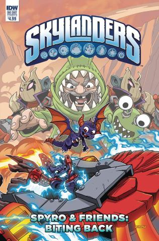 Skylanders Quarterly Sypro & Friends Biting: Back (Cover B)