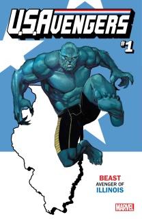 U.S.Avengers #1 (Reis Illinois State Cover)