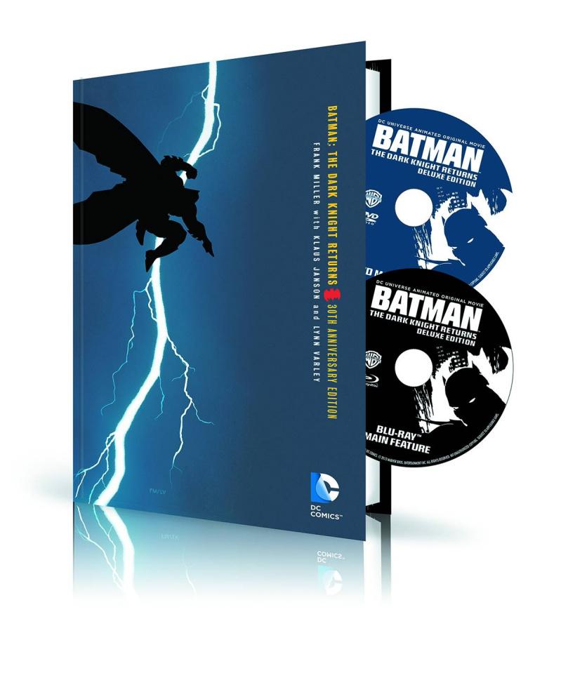 Batman: The Dark Knight Returns Book & DVD/Blu-Ray Set