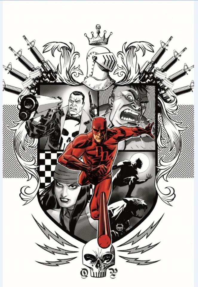 Marvel Knights: 20th Anniversary #2 (Johnson Cover)