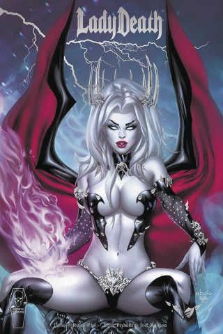 Lady Death: Unholy Ruin #1 (Ebas Premium Foil Cover)