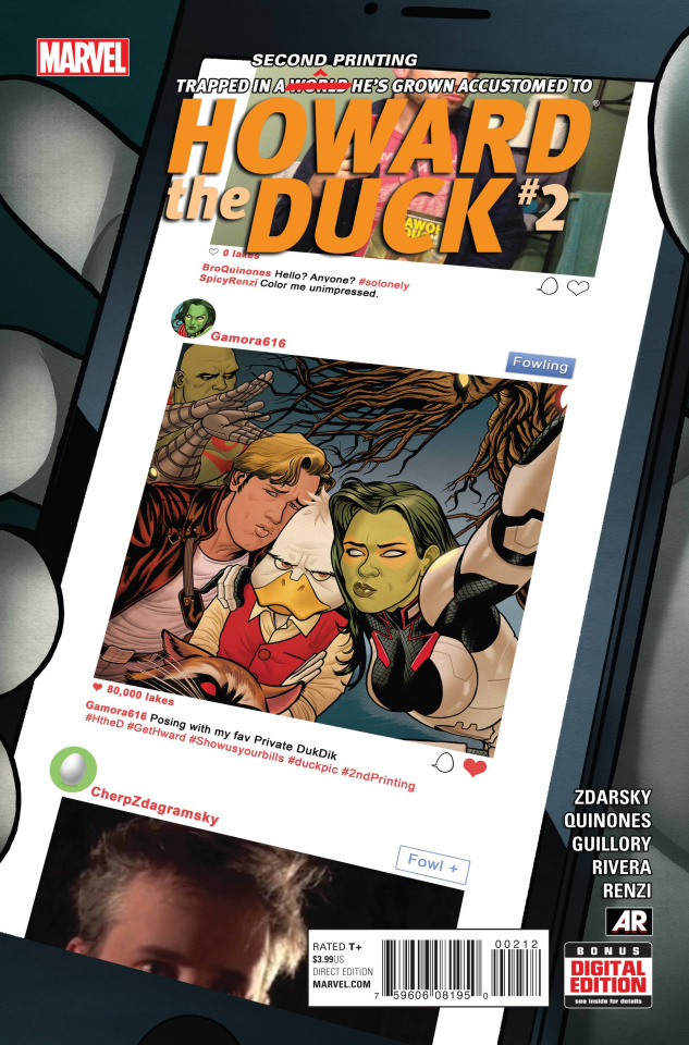 Howard the Duck #2 (Quinones 2nd Printing)