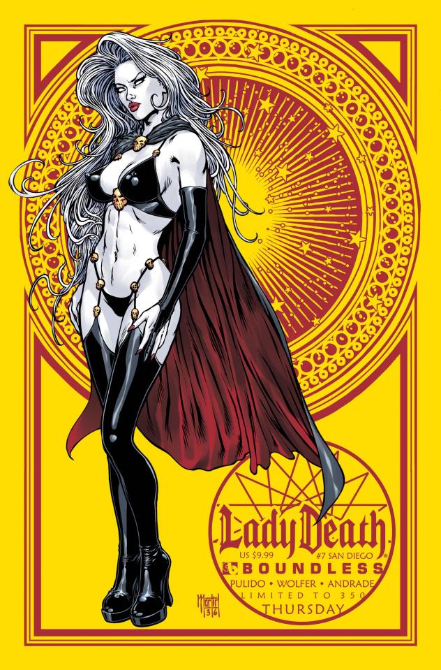 Lady Death #7 (San Diego Thursday Cover)