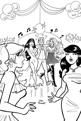 Red Sonja and Vampirella Meet Betty and Veronica #6 (11 Copy Parent B&W Cover)