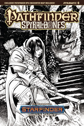 Pathfinder: Spiral of Bones #3 (Santucci B&W Cover)