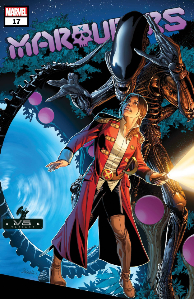 Marauders #17 (Larroca Marvel vs. Alien Cover)