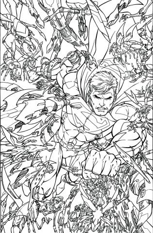 Superman #48 (Adult Coloring Book Cover)