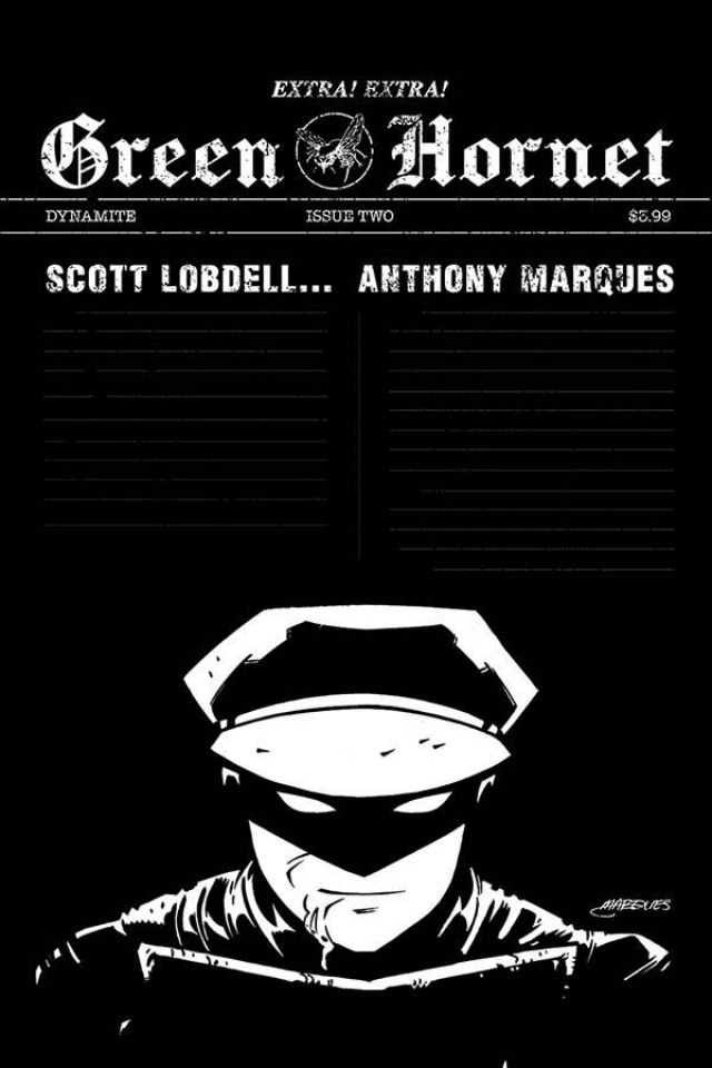 Green Hornet #2 (10 Copy Marques B&W Cover)