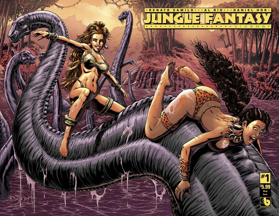 Jungle Fantasy: Vixens #1 (Wrap Cover)