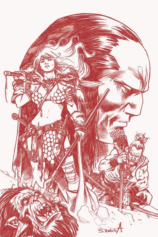 Red Sonja: Birth of the She-Devil #4 (21 Copy Davila B&W Cover)