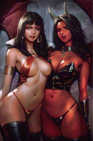 Vampirella vs. Purgatori #2 (Chew Virgin Cover)