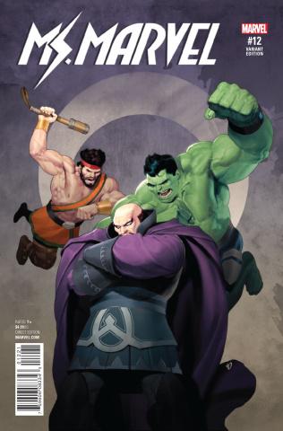 Ms. Marvel #12 (Olivetti Champions Cover)