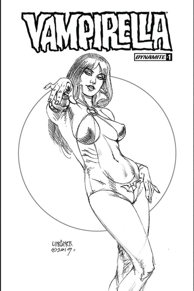 Vampirella #1 (Linsner B&W Cover)