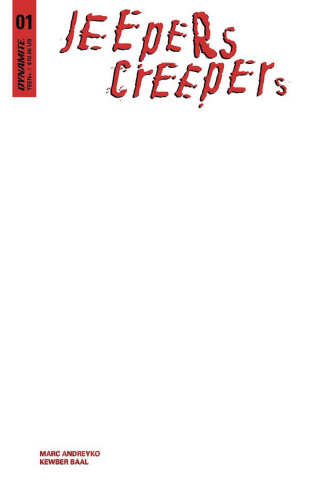 Jeepers Creepers #1 (Blank Authentix Cover)
