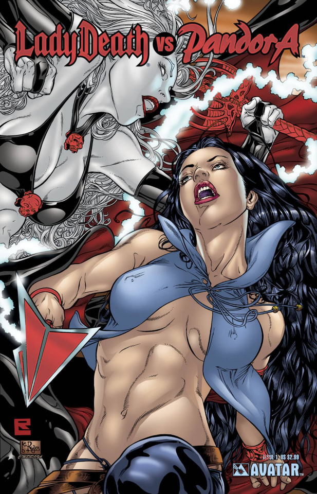 Lady Death vs. Pandora #1 (Ruby Red Foil Cover)
