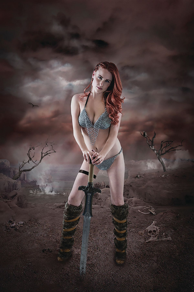 Red Sonja: Birth of the She-Devil #1 (Signed Cosplay Virgin Cover)