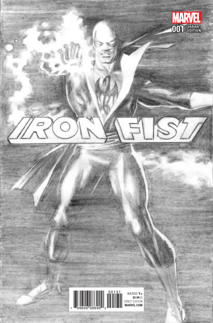 Iron Fist #1 (Ross B&W Cover)
