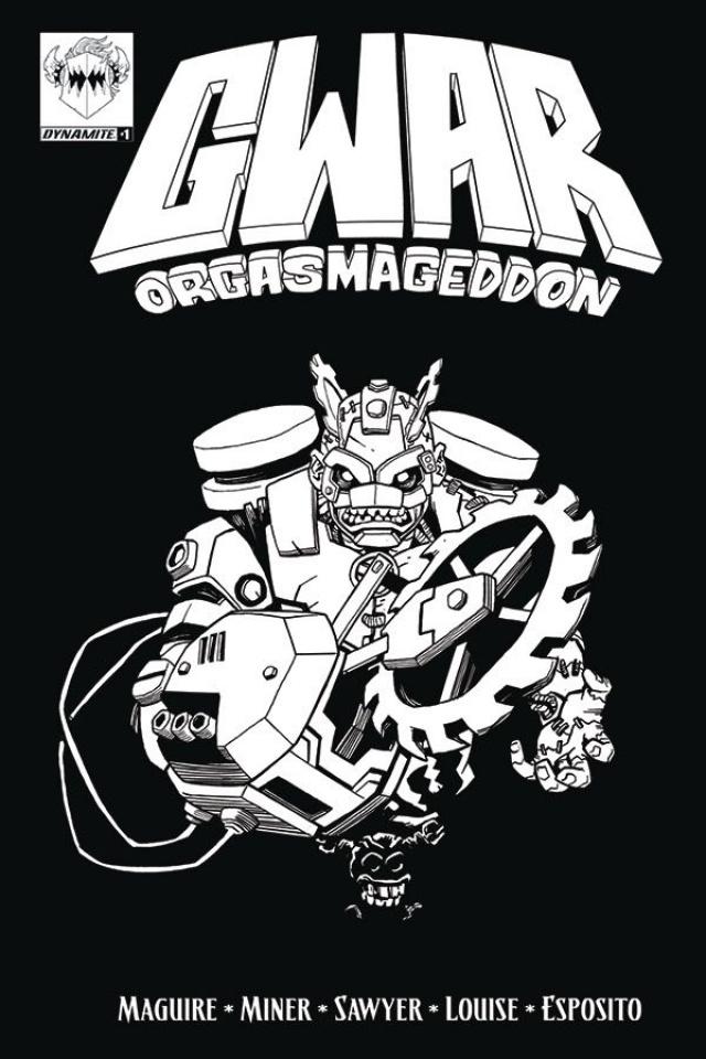GWAR: Orgasmageddon #1 (Coloring Book Cover)