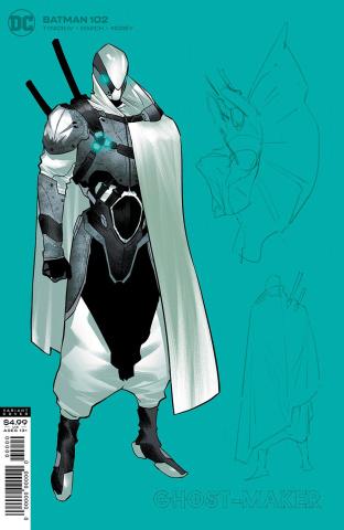 Batman #102 (1:25 Jorge Jimenez Ghost-Maker Card Stock Cover)