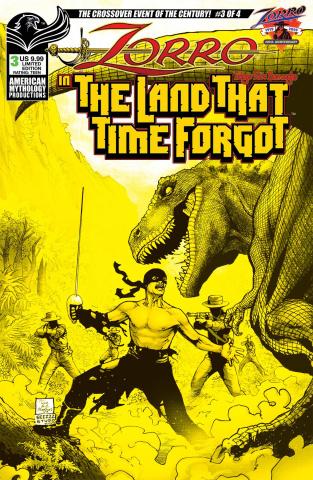 Zorro in The Land That Time Forgot #3 (Ranaldi Cover)
