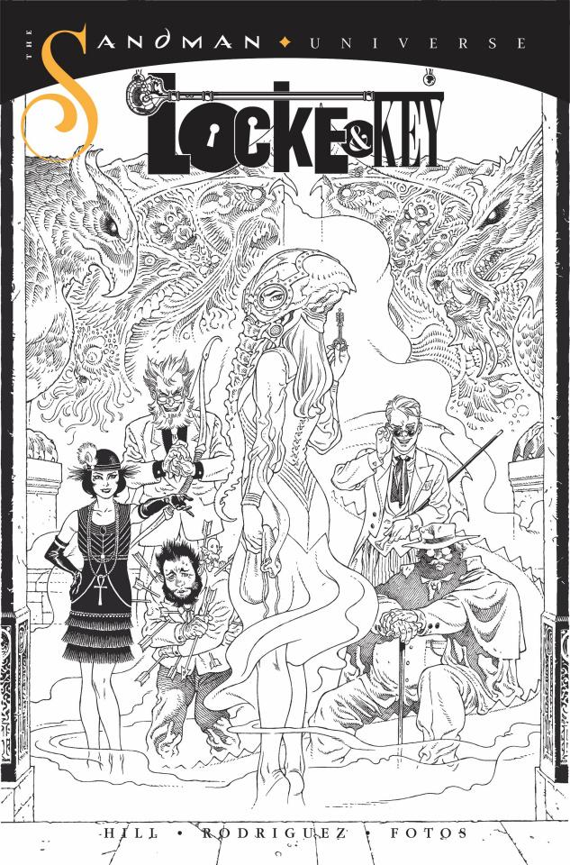 Locke & Key / Sandman: Hell & Gone #1 (10 Copy B&W Rodrique Cover)