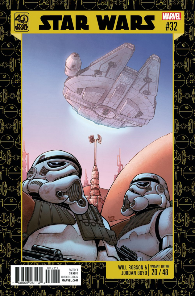 Star Wars #32 (Robson Star Wars 40th Anniversary Cover)