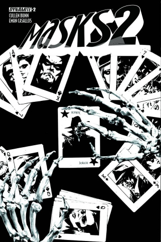 Masks 2 #2 (15 Copy Guice B&W Cover)