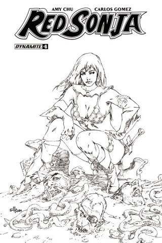 Red Sonja #6 (30 Copy Rubi B&W Cover)