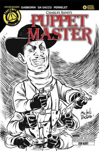 Puppet Master #6 (Six Shooter Sketch Cover)