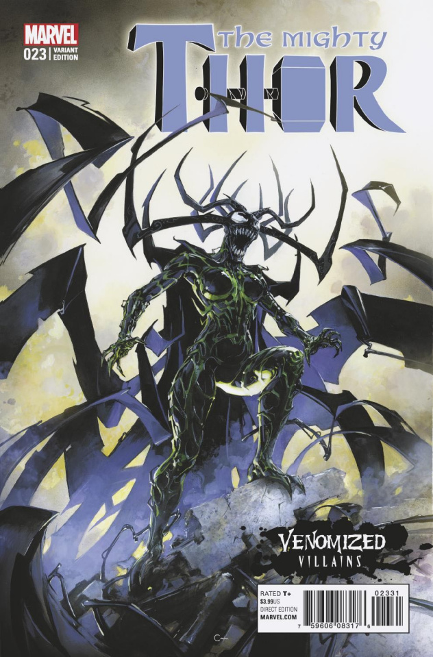 The Mighty Thor #23 (Crain Venomized Hela Cover)