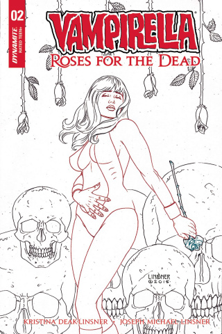 Vampirella: Roses for the Dead #2 (20 Copy Linsner B&W Cover)