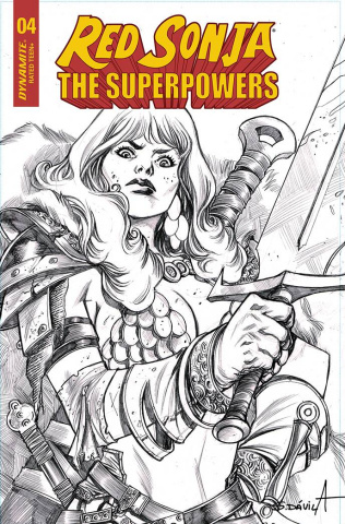 Red Sonja: The Superpowers #4 (11 Copy Davila B&W Cover)
