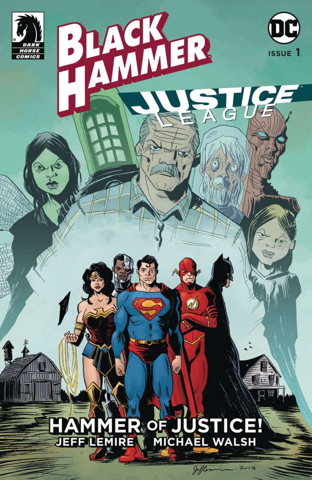 Black Hammer / Justice League #1 (Lemire Cover)