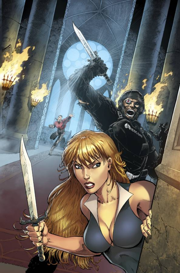 Grimm Fairy Tales: Neverland - Age of Darkness #4 (Metcalf Cover)